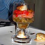 recette Verrine d'aubergines aux noix de saint jacques