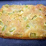 recette Gâteau à la  rhubarbe façon tatin