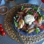 recette Salade au chèvre chaud et miel