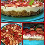 recette Tarte base speculoos aux fraises
