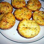 Muffins aux  chou-fleurs, lardons et comté