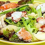 recette Salade de homard aux pêches
