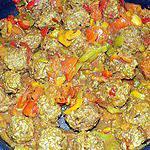 recette Cari de boulettes de boeuf (compatible dukan)