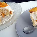 recette Gâteau roulé au mascarpone et a la pêche
