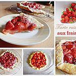 recette Tarte rustique aux fraises
