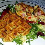 recette Gaufres aux brocolis et dès de jambon