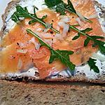 recette Tranches de pain  saumon fumé et fromage frais
