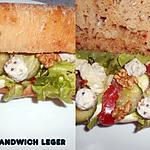 recette UN PETIT SANDWICH LEGER