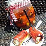 recette Bocaux d'Involtinis de poivrons au sardines