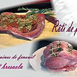 recette Rôti de porc farci aux graines de fenouil et bresaola
