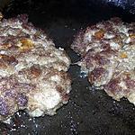 recette Steaks hachés au parmesan et a la mozzarella