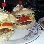 recette Hamburgers ciabatta au graines de pavots, au steak a la mozzarella