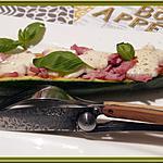 recette Courgettes farcies façon pizza