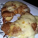 recette Croissants gratinés au jambon fromage