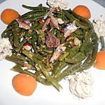 recette SALADE DE HARICOTS VERTS AU CURRY ET SARDINES