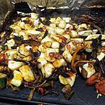 recette Ratatouille cuite à la plancha au lamelles de seiches