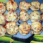 recette Champignons farcis jambon/fromage (compatible dukan)