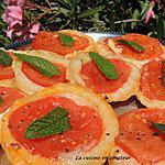 recette Mini Tatin tomate mozzarella