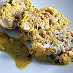recette Rôti de lieu farci aux crevettes (compatilbe dukan)