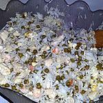 recette Riz cantonais familial au blancs de dinde et aux crevettes