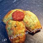 recette Madeleine courgettes chorizo