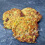 recette Galettes courgettes carottes et raisins secs