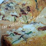 recette cake au légumes du soleil et mozzarella