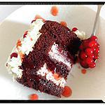 recette moelleux chocolat façon charlotte aux petit suisse purée de framboise