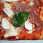 recette PIZZA CHEVRE AU MIEL ET PARME