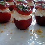 recette Bouchées de fraises
