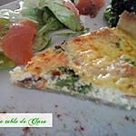 recette Tarte salée brocolis saumon fumé