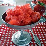recette Granité aux fraises