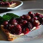 recette TARTELETTES AUX GROSEILLES MAQUEREAU ET FRAMBOISES