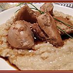 recette Risotto au poulet laqué à la bière
