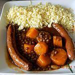 recette Tajine de merguez aux lentilles et carottes