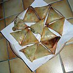 recette SAMOUSAS au THON & à L'OEUF