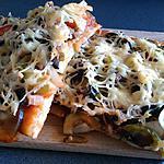 recette Pizza aux légumes du soleil enfin à 90% ;)