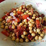 recette Salade de pois chiches et chorizo