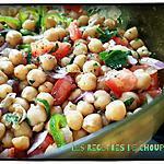 recette Salade piquante aux pois chiche