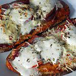 recette Bruschetta jambon cru/ mozzarella