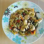recette nouille au poulet et aux legumes