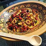 recette Taboulé au calamars poivrons et chorizo