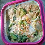 recette Vol au vent de crevette grise et legume vert