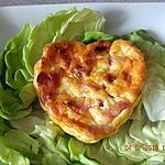 recette Quiches sans pâte lardons chorizo