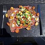 recette Salade de roquette au carpaccio de boeuf parmesan et pomme frite