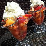 recette Salade de fruits d'été à la créme chantilly citronnée