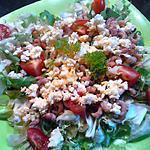 recette Salade tomate cerise au crevette et oeuf