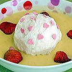 recette Ile flottante aux fraises