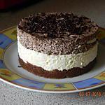 recette Entremet mousse chocolat blanc & noir