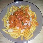 recette Macaronis sauce bolognaise au merguez poivrons et chorizo